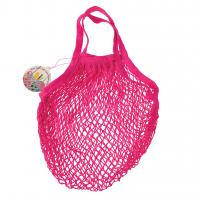 Rex London Netzeinkaufstasche aus Bio-Baumwolle, pink