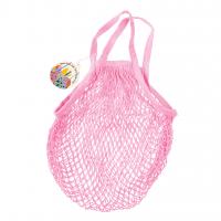 Rex London Netzeinkaufstasche aus Bio-Baumwolle, baby pink