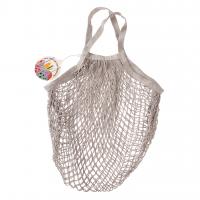 Rex London Netzeinkaufstasche aus Bio-Baumwolle, pale grey