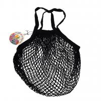 Rex London Netzeinkaufstasche aus Bio-Baumwolle, schwarz
