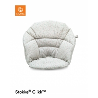 STOKKE Clikk Kissen, Soft Grey Sprinkles (Bio-Baumwolle)