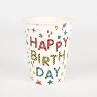 My Little Day Kartonbecher, Happy Birthday, 8-er Pack