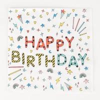 My Little Day Papierservietten, Happy Birthday - 20 Stk.