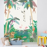 MIMIlou Wandbild Jungle