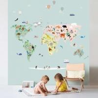 MIMIlou Wandbild World