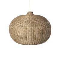 Ferm Living Deckenlampe aus Rattan, Belly Lamp