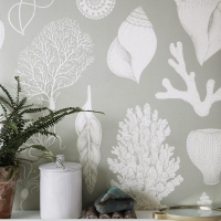 Ferm Living Tapeten - Shells Aqua