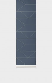 Ferm Living Tapeten - Lines Dark Blue