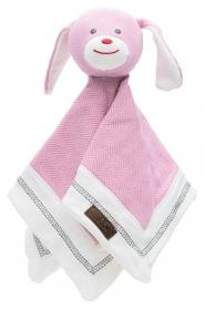 Juddlies Schmusetuch Hund, sunset pink