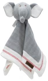 Juddlies Schmusetuch Elefant, driftwood grey