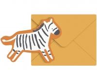 Sebra Grusskarte, Zebra