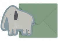 Sebra Grusskarte, Elefant Finley
