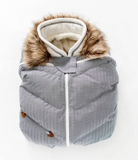 Juddlies Babyschalenüberzug - Herringbone Grey
