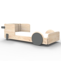 Mathy by Bols Montessori Discovery Einzelbett, Basalte-Grau