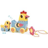 Vilac Hen & Chick Nachziehspielzeug mit Musik