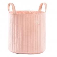 Nobodinoz Aufbewahrungstasche Savanna Velvet, Bloom Pink