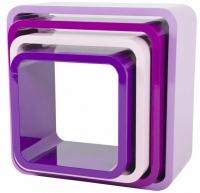 Sebra Cube Regale, 4er Set, Quadratisch, Blackberry