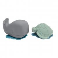 Hevea Badespielzeug Ingolf der Wal und Dagmar die Schildkröte