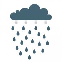 Tresxics Wandhaken Wolke gross mit 20 Regendropfen-Stickers, Navy