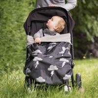 BundleBean Go! Kinderwagendecke/ Babytragedecke, Silver Lightening