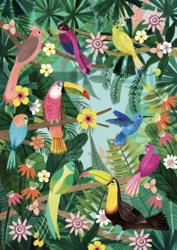 Petit Monkey Poster, Rainforest Birds