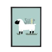 Bloomingville Poster mit Rahmen, Sheep