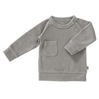 Fresk Velour Pullover, paloma grey