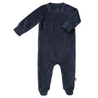 Fresk Babypyjama, mit Füsschen, indigo