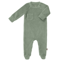 Fresk Babypyjama, mit Füsschen, forest green