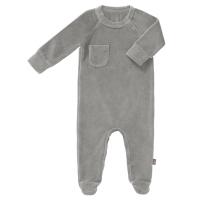 Fresk Babypyjama, mit Füsschen, palome grey