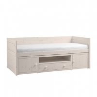 Lifetime Kidsrooms Kojenbett mit Regalmodul, Whitewash