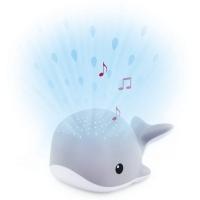 ZAZU Wally der Wal Sternenprojektor mit beruhigenden Sounds, grau