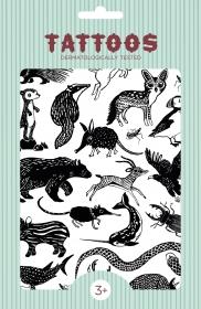 Petit Monkey Kinder-Tattoos, Black Animals