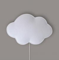 BUOKIDS Wandlampe Soft Wolke, Weiss