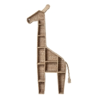 Bloomingville Mini Bücherregal Standregal Rattan, Giraffe