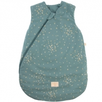 Nobodinoz Schlafsack Cocoon - Gold Confetti/ Magic Green, 6-18 M