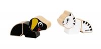 BRIO Magnet-Tiere Hund und Katze