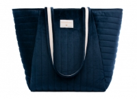 Nobodinoz Wickeltasche Savanna Velvet, Night Blue