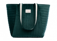 Nobodinoz Wickeltasche Savanna Velvet, Jungle Green