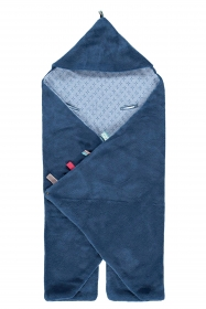 Snoozebaby Wickeldecke Trendy Wrapping, Indigo Blue