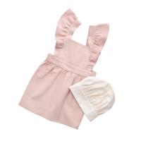 Sebra Kinderschürze und Kochmütze, dusty pink