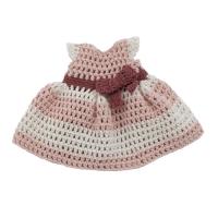 sebra gehäkeltes Puppenkleid, blossom pink