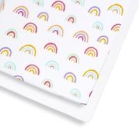 SnüzPod3 Fixleintuch Spannbettuch (2er Pack), Colour Rainbow