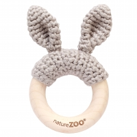 Sebra Beissring Kaninchen, grau