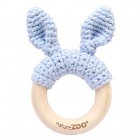 Sebra Beissring Kaninchen, hellblau