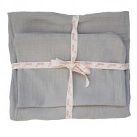 Kikadu Bettwäsche aus Musselin Baumwolle, Junior, grau