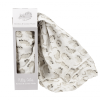Rex London Muslin Swaddle Pucktuch, Kitty Cats