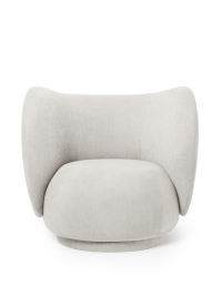 Ferm Living Rico Lounge Chair - Bouclé, Off-White