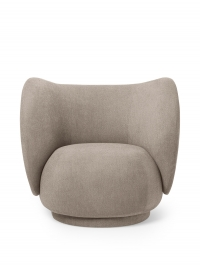 Ferm Living Rico Lounge Chair - Bouclé, Sand