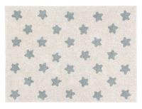 Lorena Canals Kinderteppich, Stars Natural - Vintage Blue 120 x 160 cm